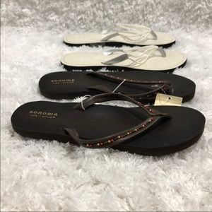 Sonoma & Black Rivet Flip Flop Bundle Sz 7-8